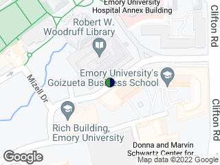 Map showing location of Fishburne @ Woodruff Library