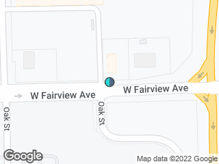 Map showing location of Fairview & Oak