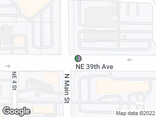 Map showing location of Westbound NE 39th Ave at Main St - Gsville Nissan