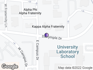 Map showing location of Kappa Alpha