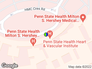 Map showing location of North Hospital Entrance