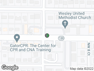 Map showing location of Wesley United Methodist Church