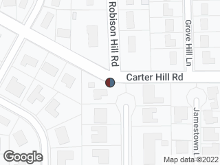Map showing location of Carter Hill & Robinson Hill