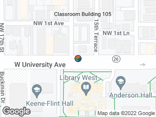 Map showing location of Smathers Library