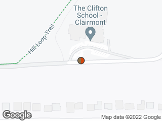 Map showing location of Starvine Way @ The Clifton School (Westbound)
