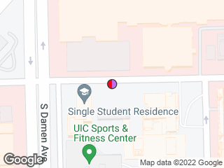 Map showing location of Polk Street Residence Hall