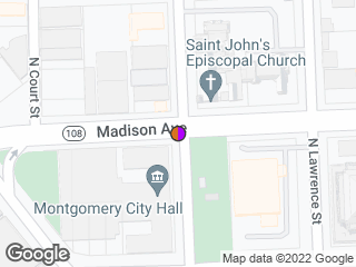 Map showing location of Madison & Perry