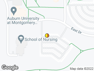 Map showing location of AUM School of Nursing