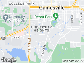Map showing location of 16: UF Health - Sugar Hill