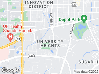 Map showing location of 17: Downtown Station - UF Health
