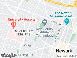 Map showing location of Newark Campus Connect