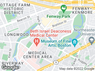 Map showing location of Fenway AM