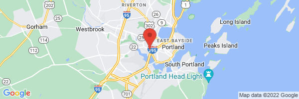 A map showing the location of Portland Gastroenterology Center
