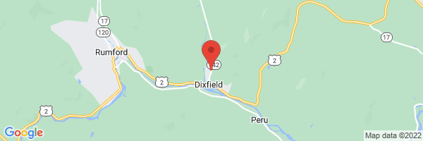 A map showing the location of Elsemore Dixfield Family Medicine (Central Maine Medical Group)