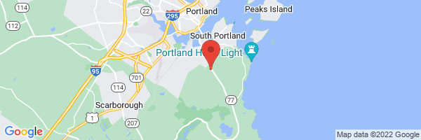 A map showing the location of Maine Medical Partners Cape Elizabeth Internal Medicine (Maine Medical Center)