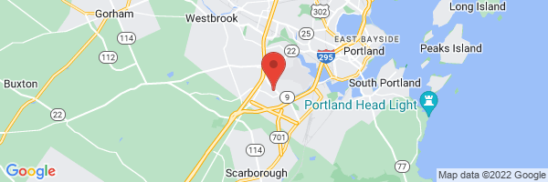 A map showing the location of Plastic & Hand Surgical Associates/Western Avenue Day Surgery Center
