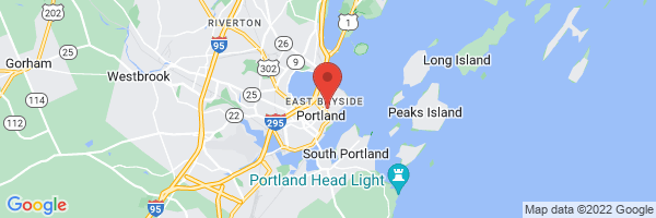 A map showing the location of Maine Medical Partners Portland Family Medicine (Maine Medical Center)