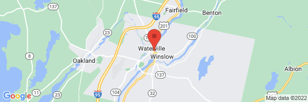 A map showing the location of Waterville Family Practice