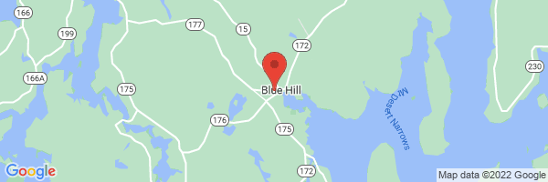 A map showing the location of Blue Hill Psychological Services