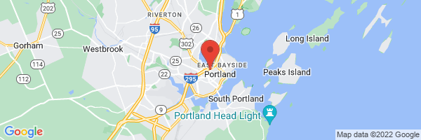 A map showing the location of Portland Foot and Ankle