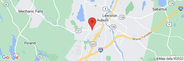 A map showing the location of Central Maine Orthopaedics
