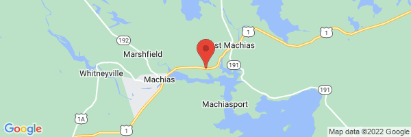 A map showing the location of Regional Medical Center at Lubec, East Machias