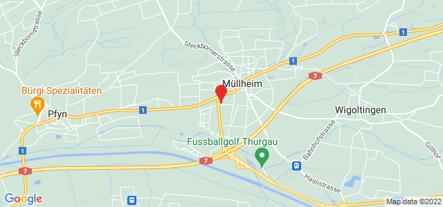Google Map of Thurstrasse 18, 8555 Müllheim