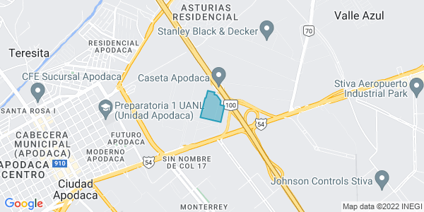 Overhead map of site