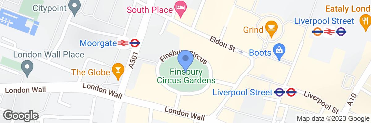 Finsbury Circus Gardens, London, EC2M 7DT