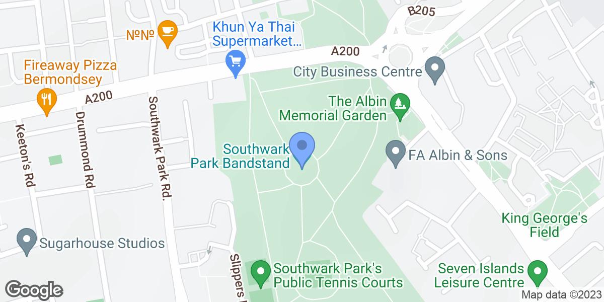 Southwark Park Bandstand, Gomm Road, SE16 2TX