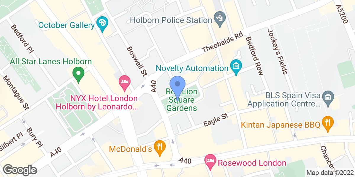 Red Lion Square Gardens, Red Lion Square, WC1R 4QF