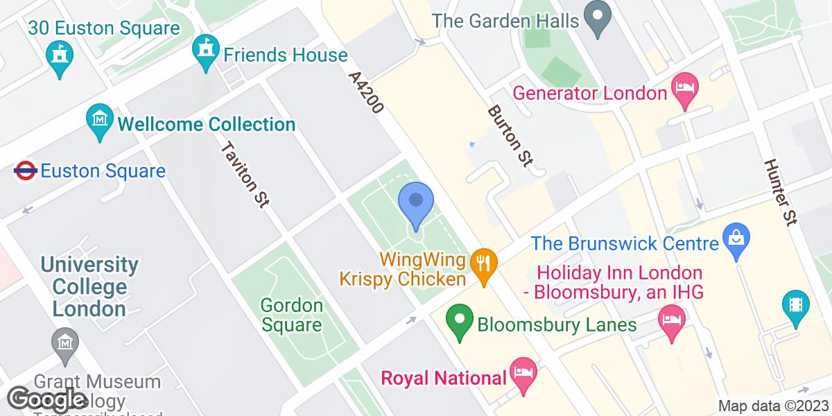 Tavistock Square Gardens, Bloomsbury, WC1H 9EZ