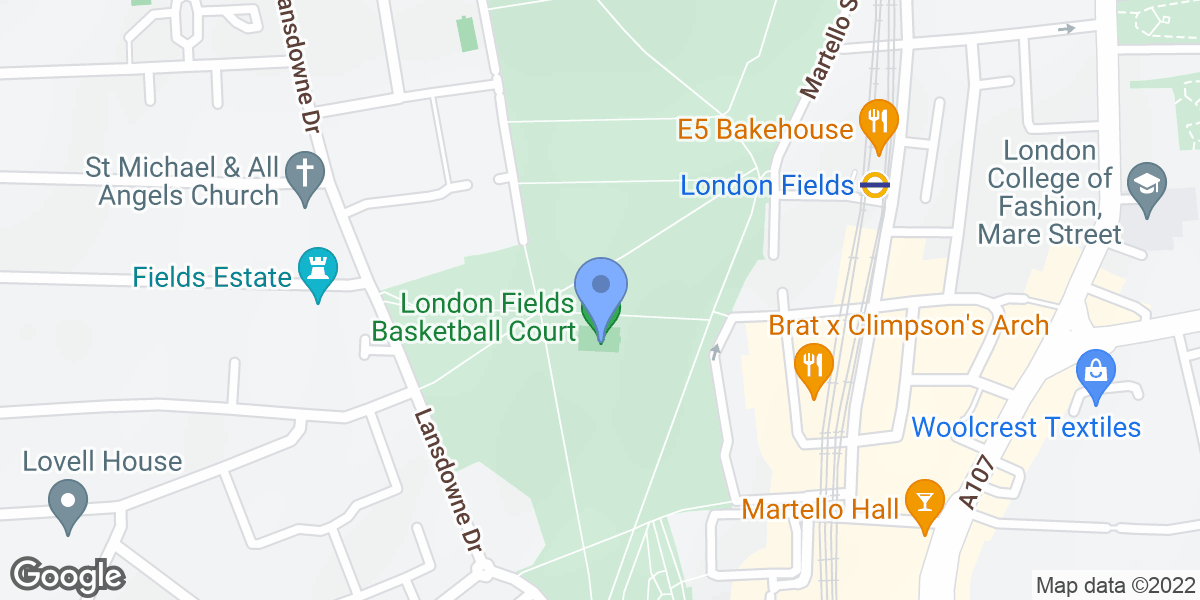 London Fields Basketball Court, Hackney, E8 3HQ
