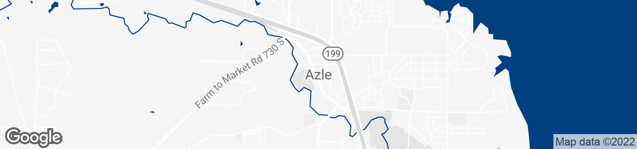 Google Map of Azle, Texas