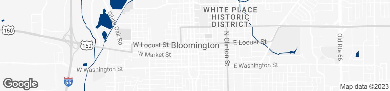Google Map of Bloomington, Illinois