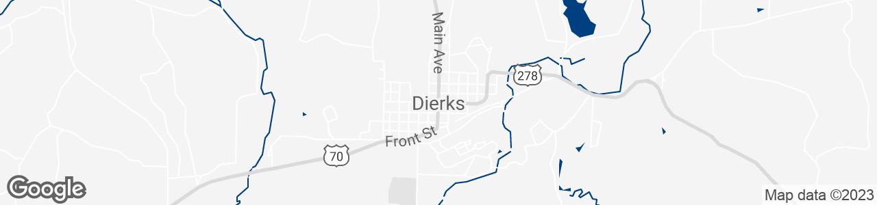 Google Map of Dierks, Arkansas