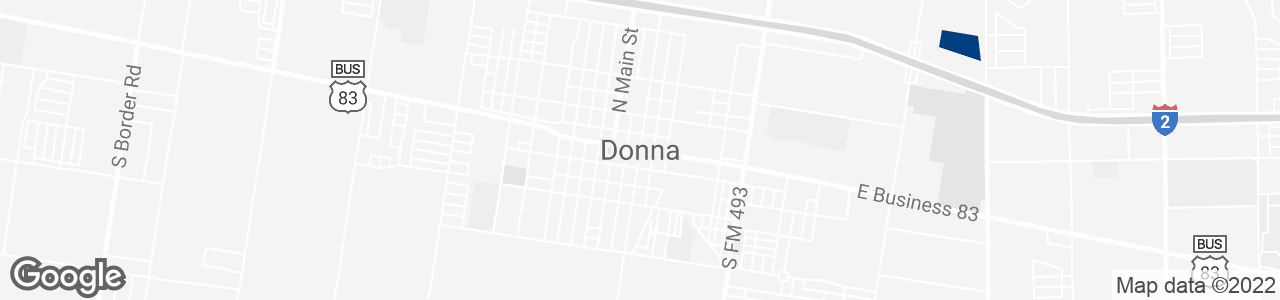 Google Map of Donna, Texas