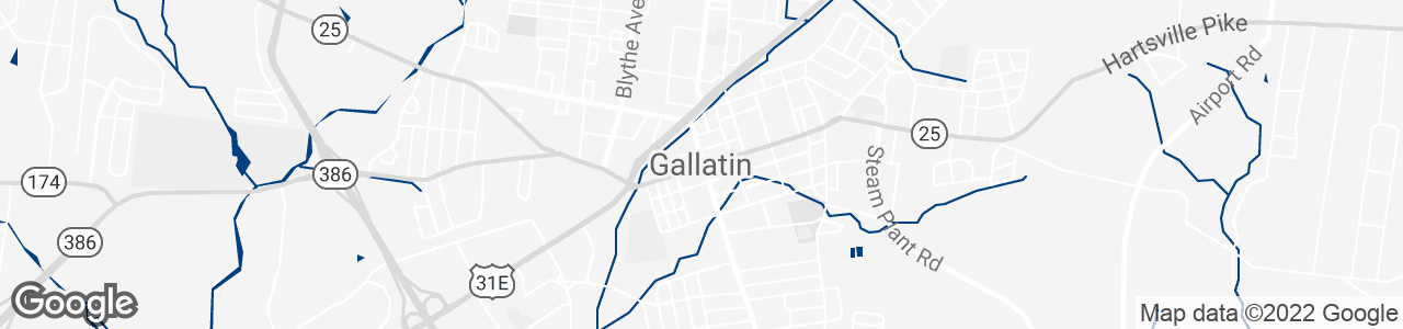 Google Map of Gallatin, Tennessee