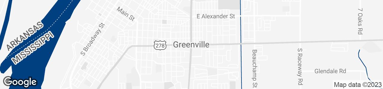Google Map of Greenville, Mississippi