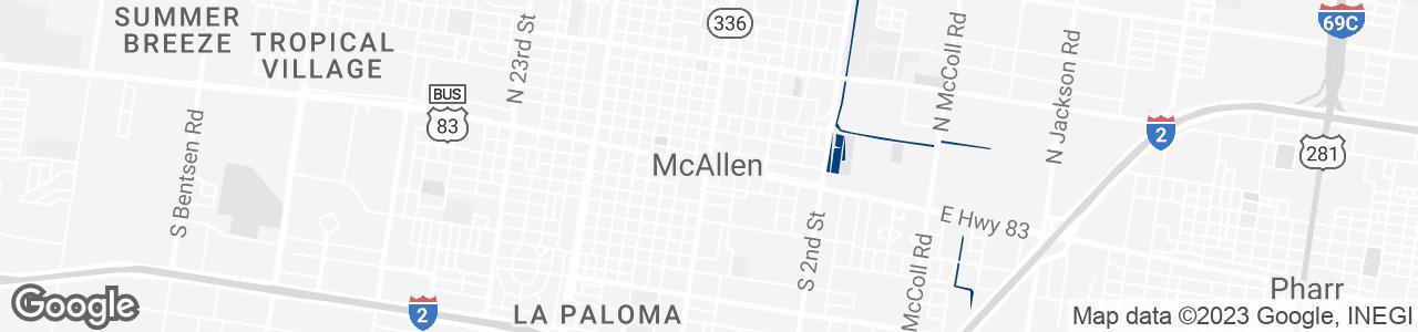 Google Map of Mcallen, Texas