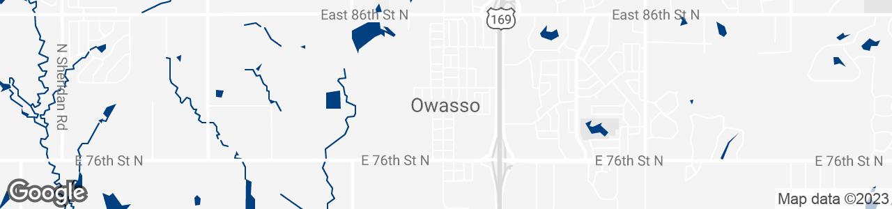 Google Map of Owasso, Oklahoma