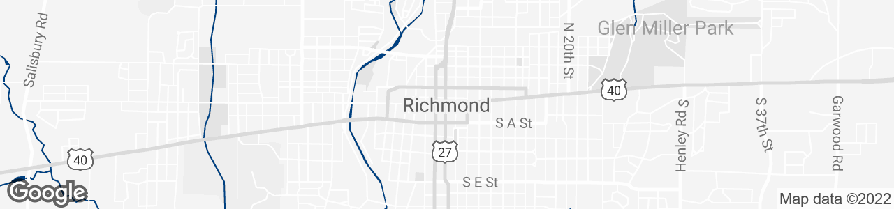 Google Map of Richmond, Indiana