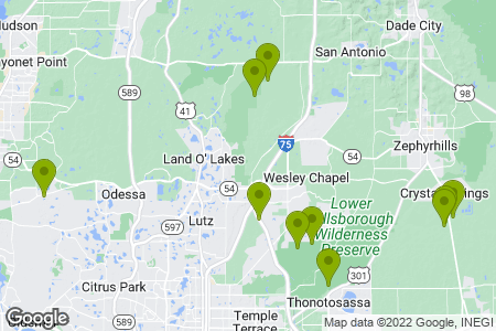 Map showing observation locations for this frog