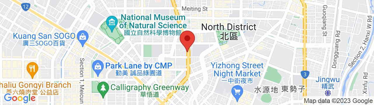 CREST TECHNOLOGIES TAIWAN 台中オフィス 地図