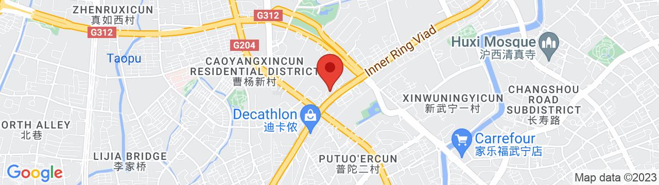 SOLEX CHINA 上海オフィス 地図