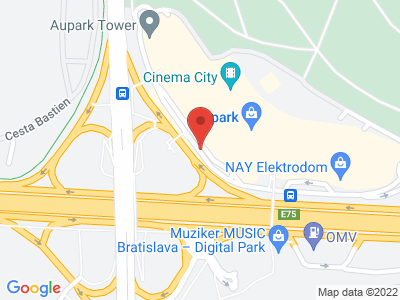 Aupark map