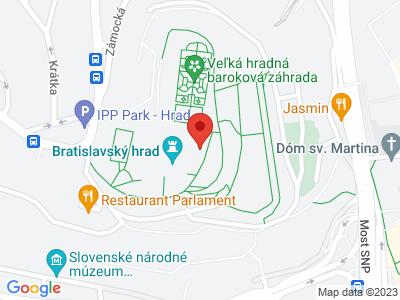 Bratislava castle map