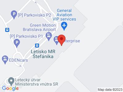Bratislava Airport (BTS) map