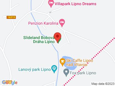Bobová dráha Slideland Lipno map