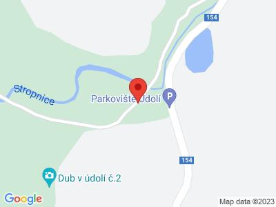 Terčino údolí map